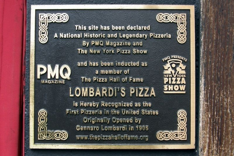 Lombardi's Pizza Marker image. Click for full size.