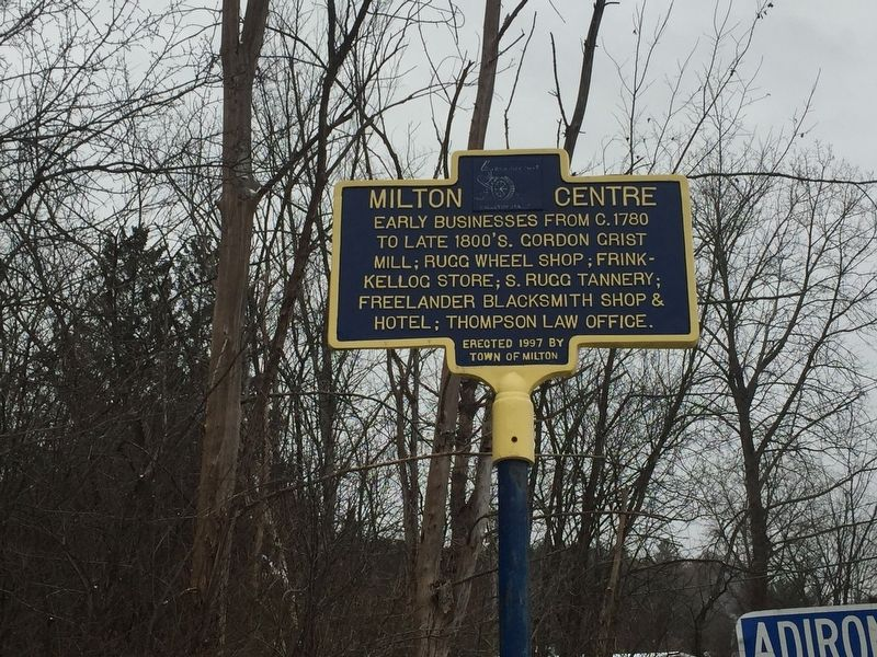 Milton Centre Marker image, Touch for more information