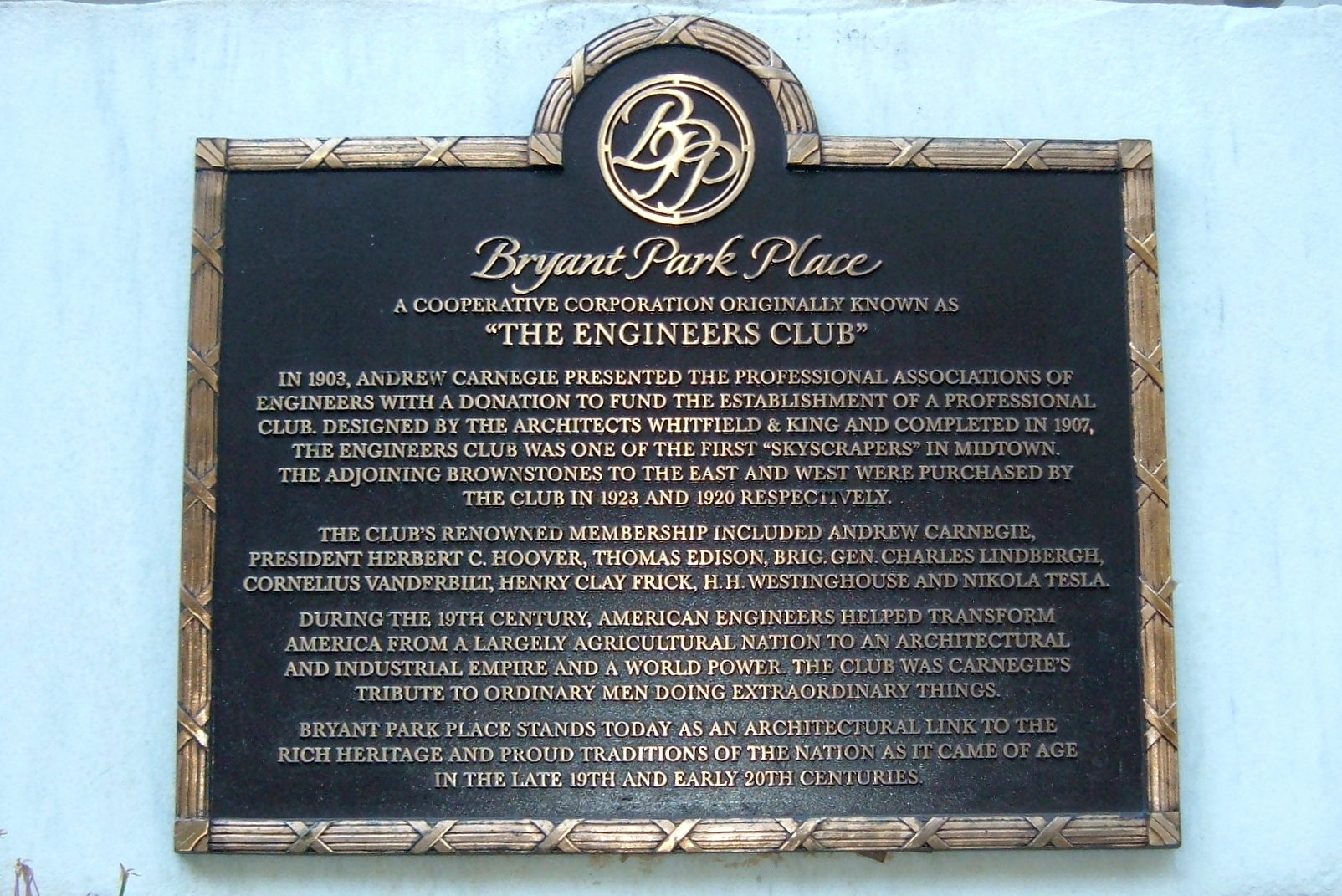 The Engineers Club Marker