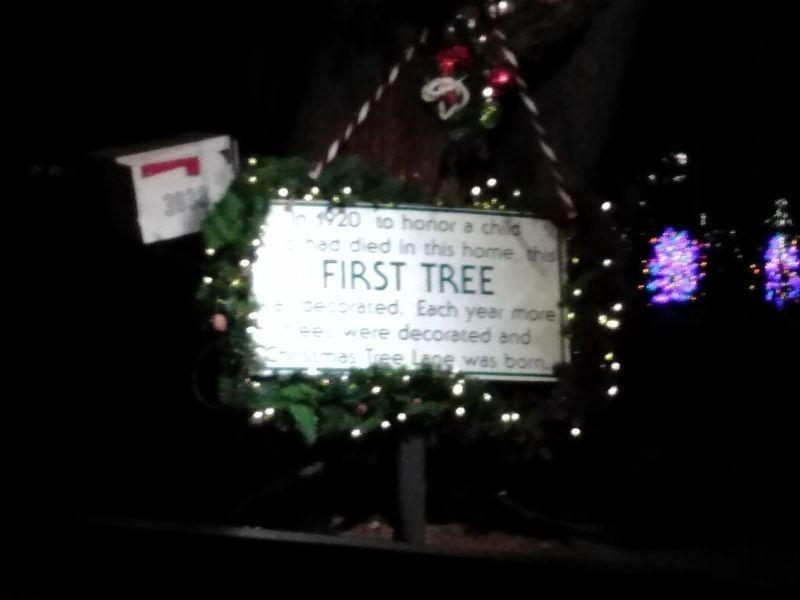 Christmas Tree Lane Historical Marker