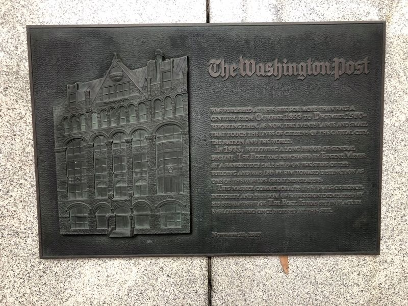The Washington Post Marker image. Click for full size.