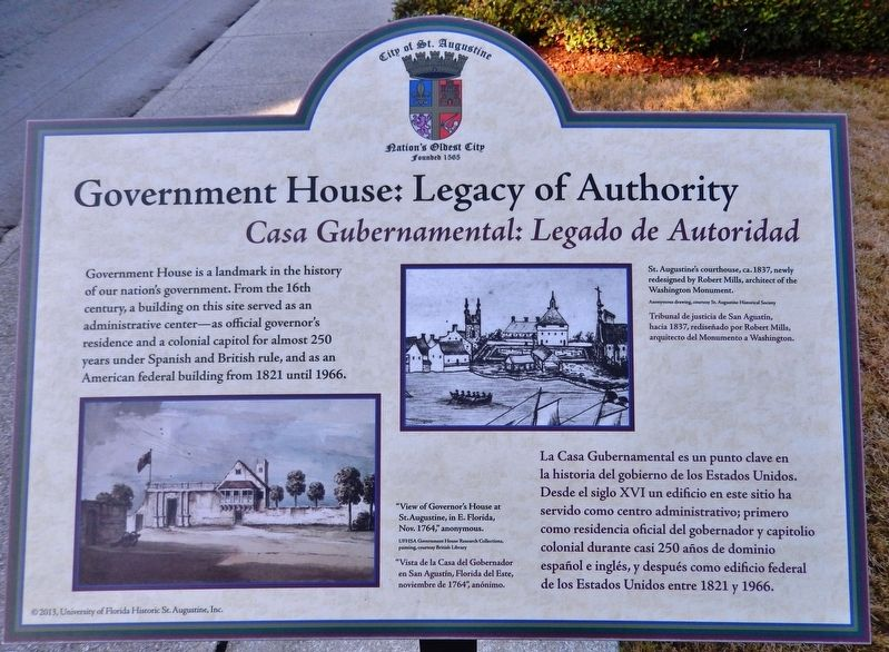 Government House: Legacy of Authority Marker image. Click for full size.