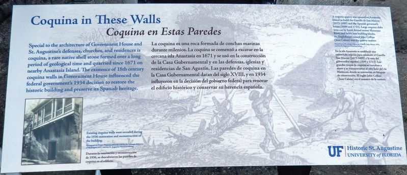 Coquina in These Wall Marker image. Click for full size.