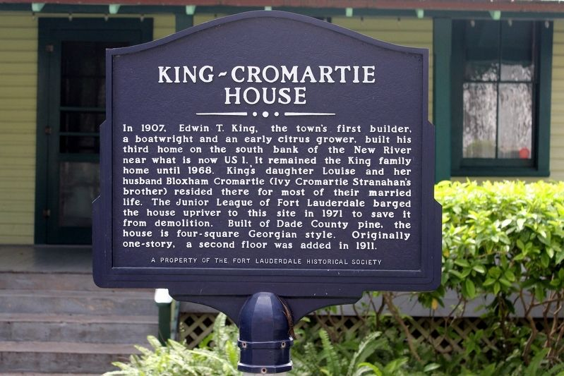 King-Cromartie House Marker image. Click for full size.
