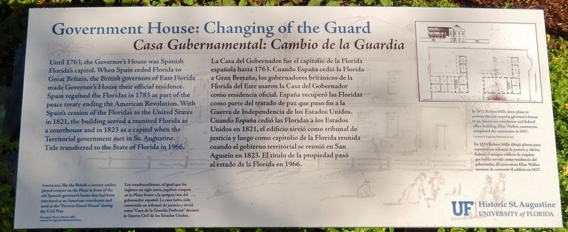 Government House: Changing of the Guard Marker image. Click for full size.