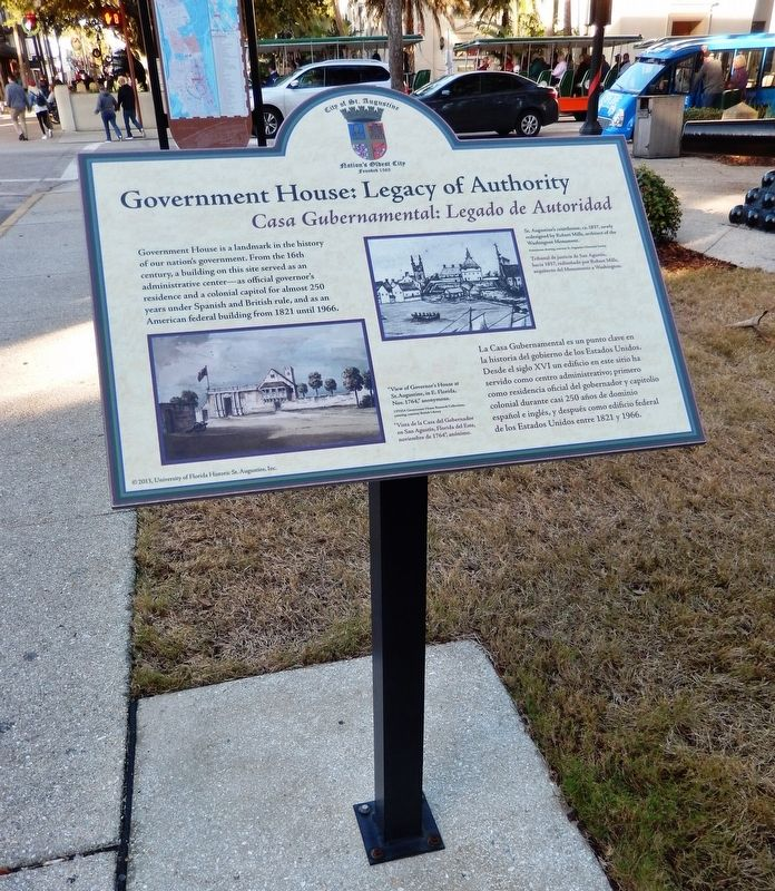 Government House: Legacy Authority Marker (<i>tall view looking north along St. George Street</i>) image. Click for full size.