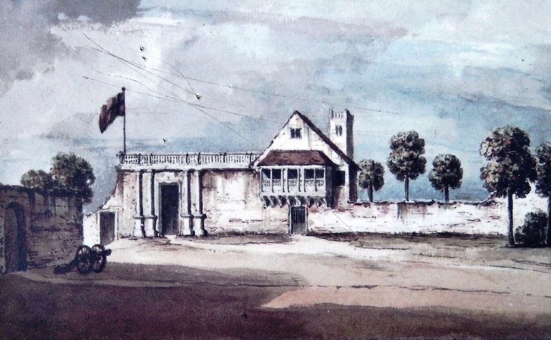 Marker detail: Governor's House, 1764 image. Click for full size.