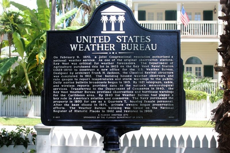 United States Weather Bureau Marker image. Click for full size.