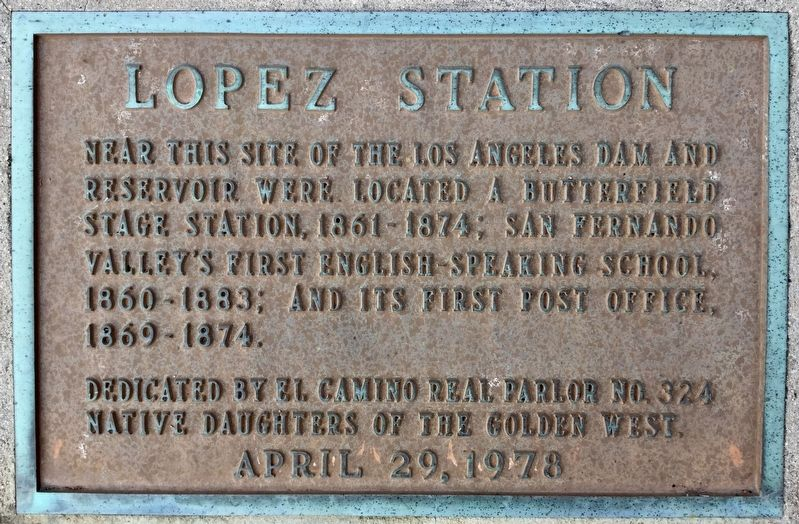 Lopez Station Marker image. Click for full size.