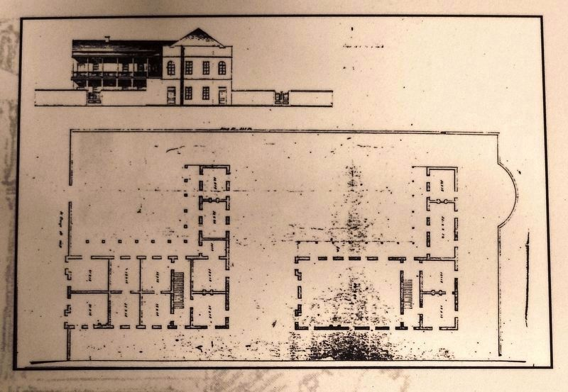 Marker detail: 1833 Robert Mills plan image. Click for full size.