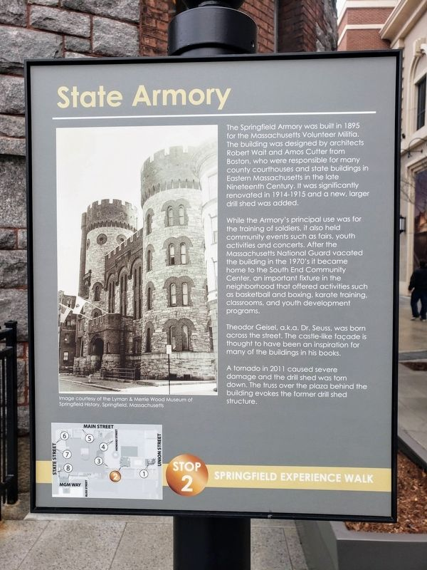 State Armory Marker image. Click for full size.