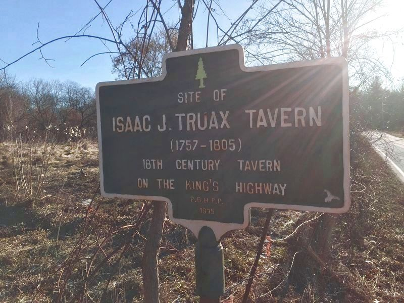 Issac J. Truax Tavern Marker image. Click for full size.