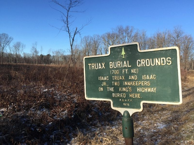 Truax Burial Grounds Marker image. Click for full size.