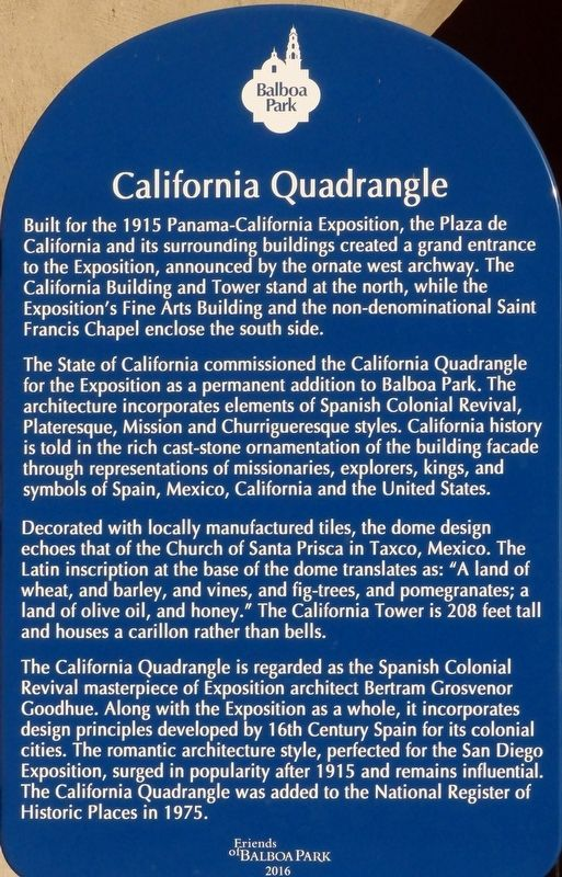 California Quadrangle Marker image. Click for full size.