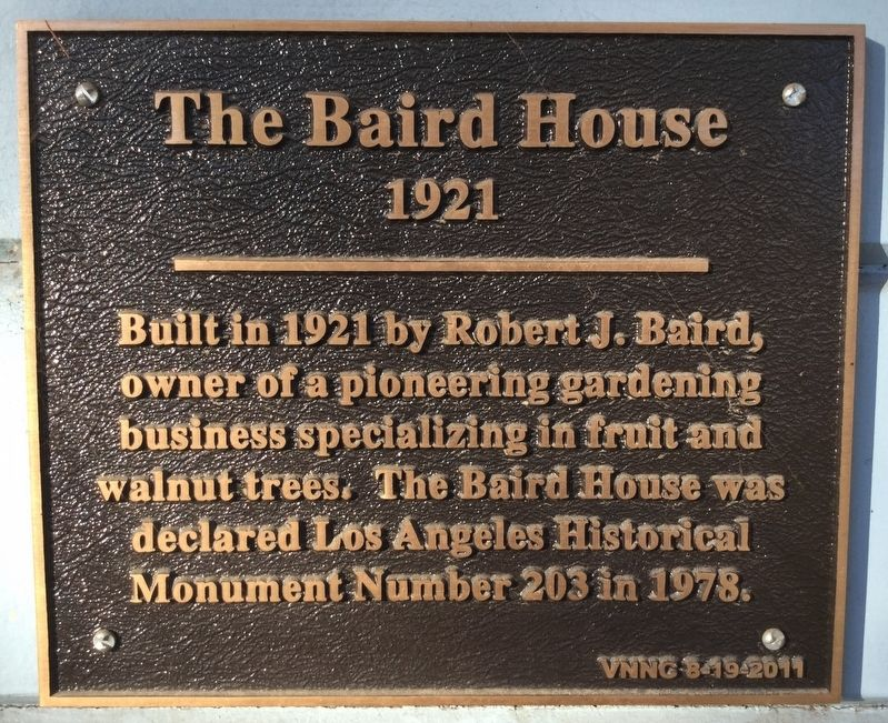 The Baird House Marker image. Click for full size.