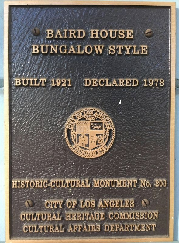 Los Angeles City Monument No. 203 image. Click for full size.