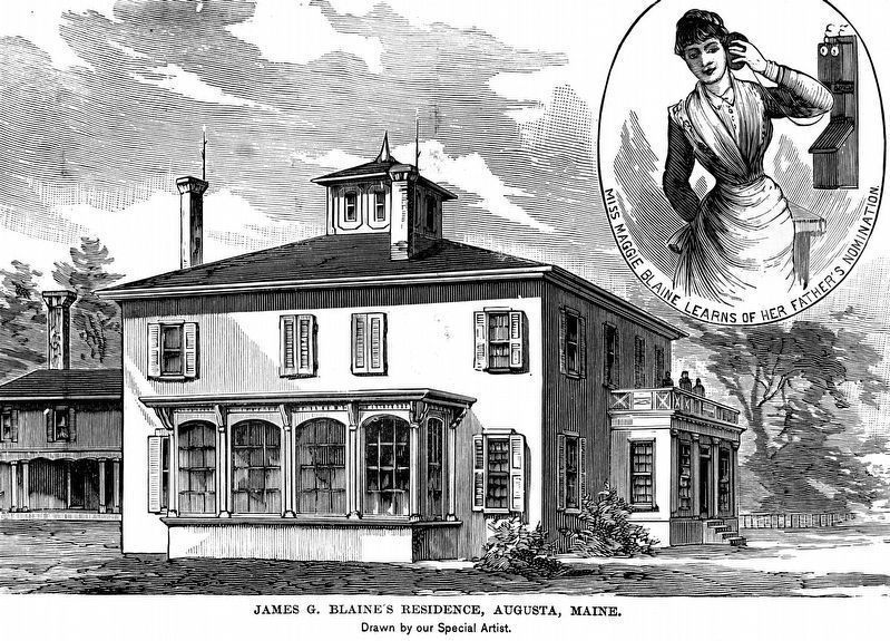 Residence of James G. Blaine<br>&#8220;Miss Maggie Blaine learns of her father's nomination&#8221; image. Click for full size.
