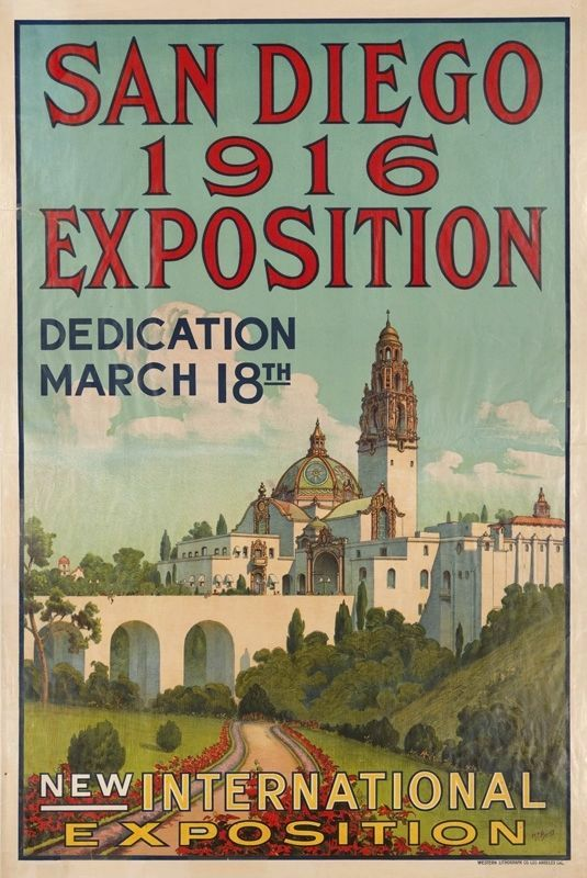 Poster: San Diego 1916 Exposition image. Click for full size.
