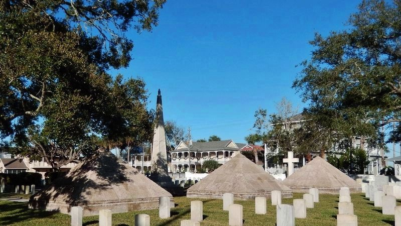 Major Dade Memorial Pyramids & Monument (<i>located on north side of cemetery</i>) image. Click for full size.