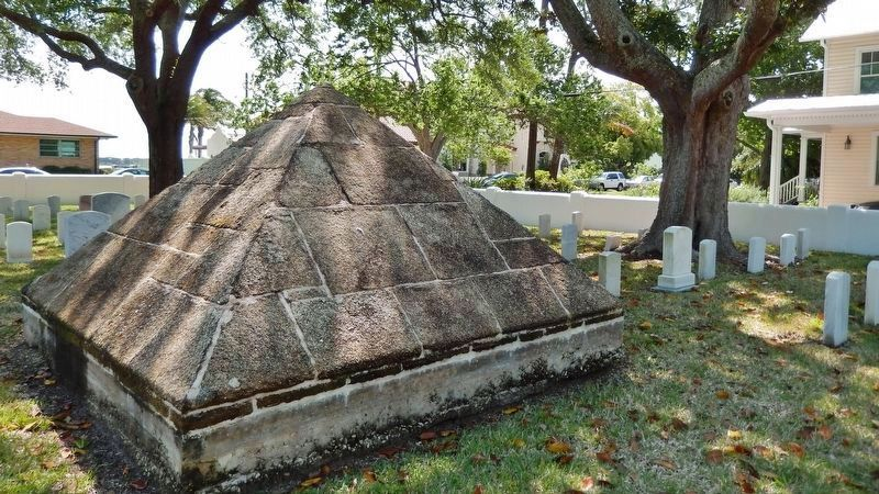 Major Dade Memorial Coquina Pyramid (<i>located on north side of cemetery</i>) image. Click for full size.