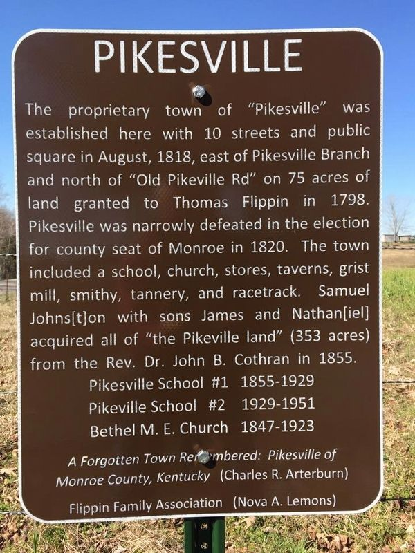 Pikesville Marker image. Click for full size.