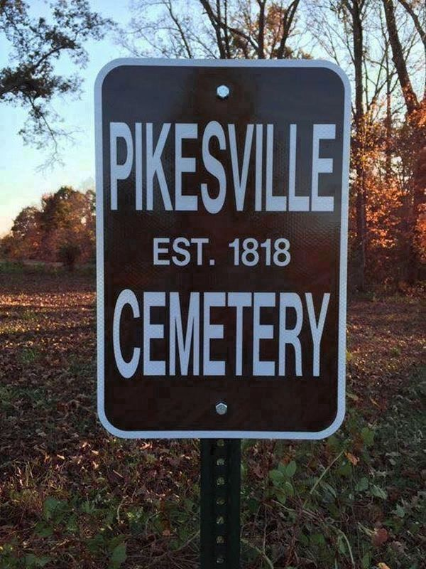 Old Pikesville Cemetery image. Click for full size.