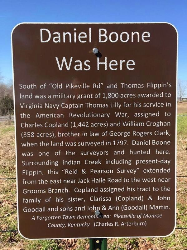 Daniel Boone Was Here Marker image. Click for full size.