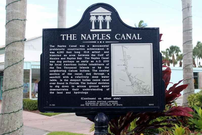 The Naples Canal Marker Side 1 image. Click for full size.