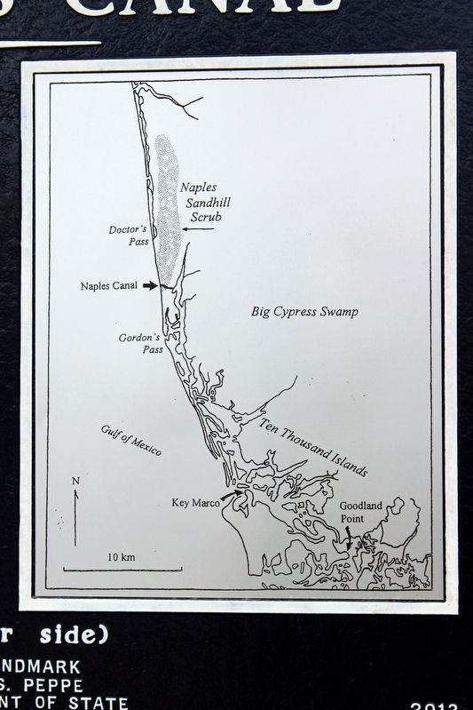 The Naples Canal General Location Map image. Click for full size.