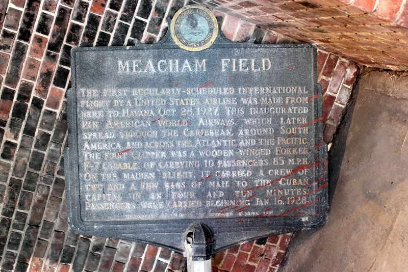 Meacham Field Marker image. Click for full size.