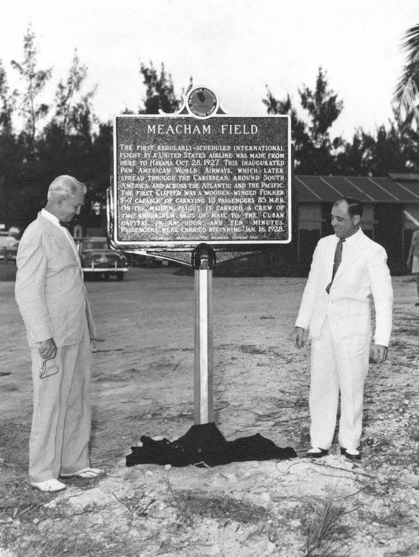 Meacham Field Marker Dedication in 1954 image. Click for full size.