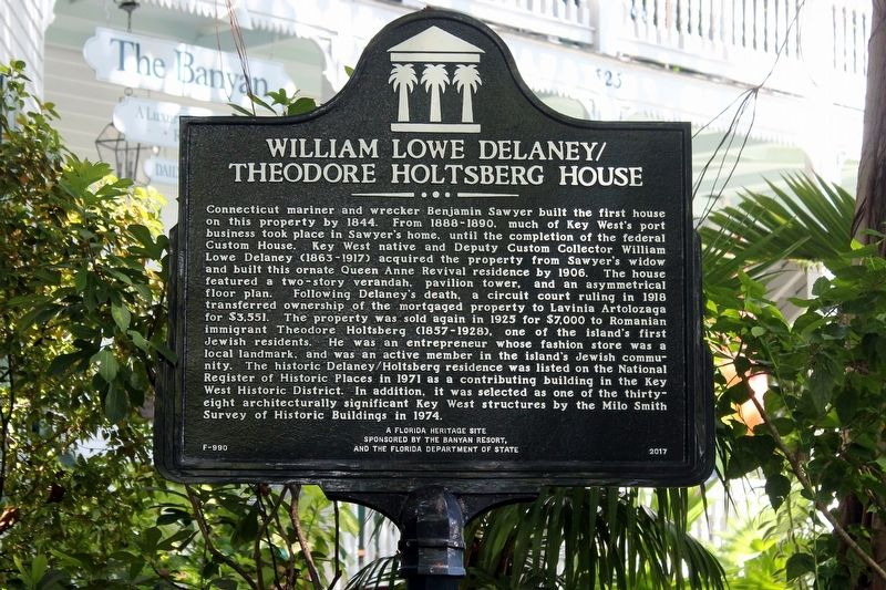 William Lowe Delaney/Theodore Holtsberg House Marker image. Click for full size.