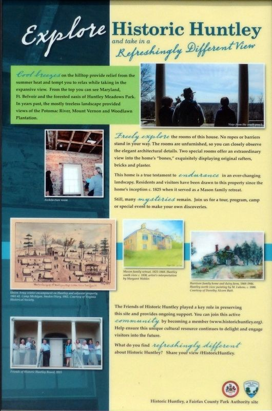 Explore Historic Huntley Marker image. Click for full size.