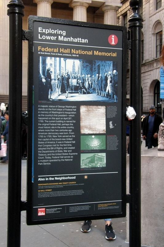 Federal Hall National Monument image. Click for full size.