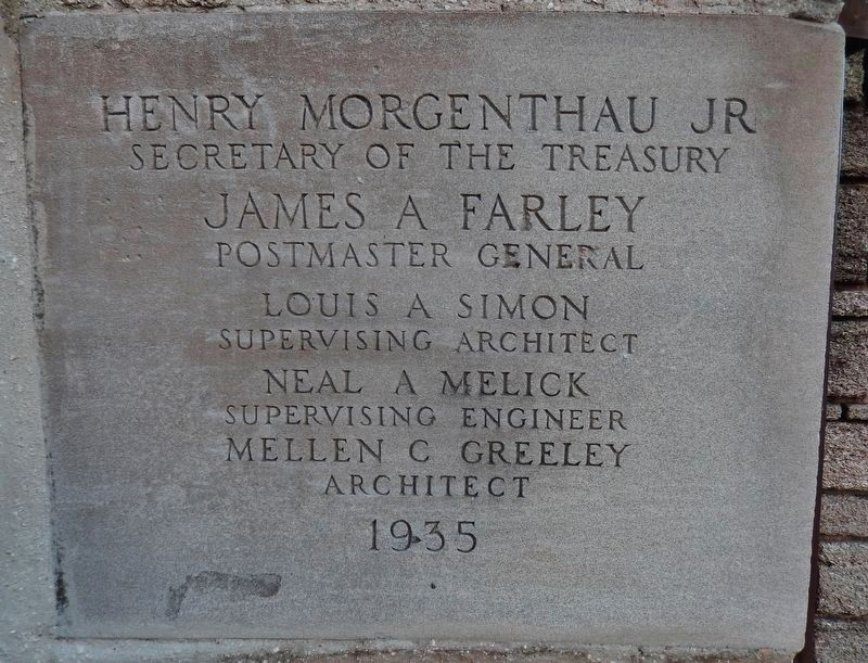 Government House Cornerstone (<i>for 1935 Renovation as a Works Progress Administration project</i>) image. Click for full size.