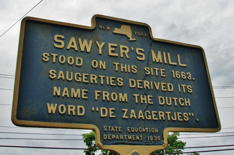 Sawyer's Mill Marker image. Click for full size.