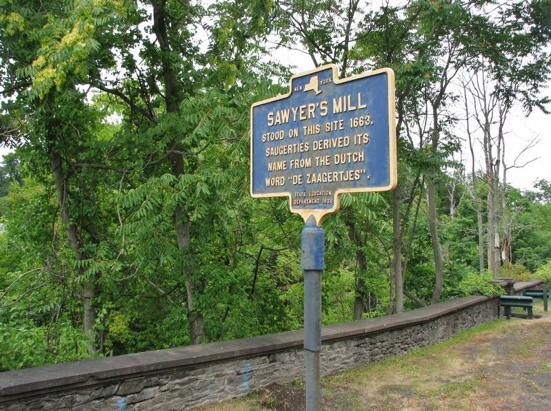 Sawyer's Mill Marker (<i>wide view</i>) image. Click for full size.