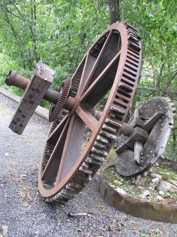 Sawyer's Mill Artifact: Iron Sprocket Wheel with Wooden Teeth image. Click for full size.