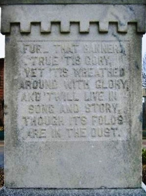 Weakley County Tennessee Confederate Monument (<i>north-side inscription</i>) image. Click for full size.