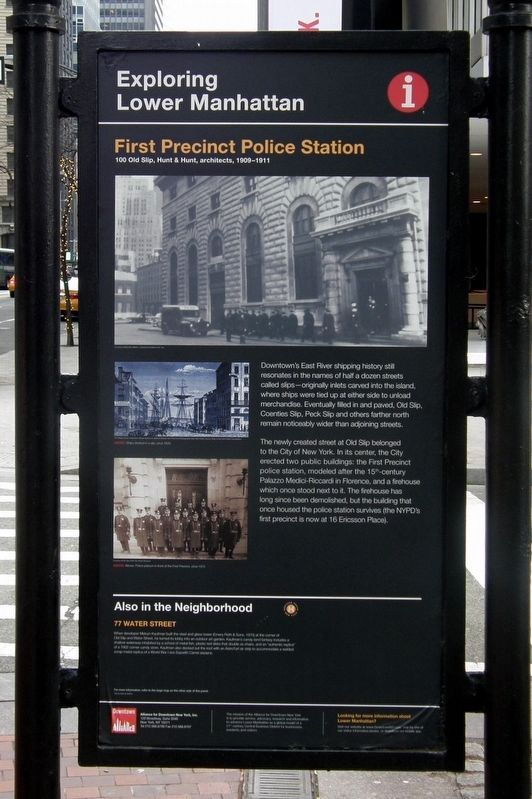 First Precinct Police Station Marker, 2018 image. Click for full size.
