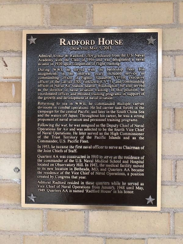 Radford House Marker image. Click for full size.