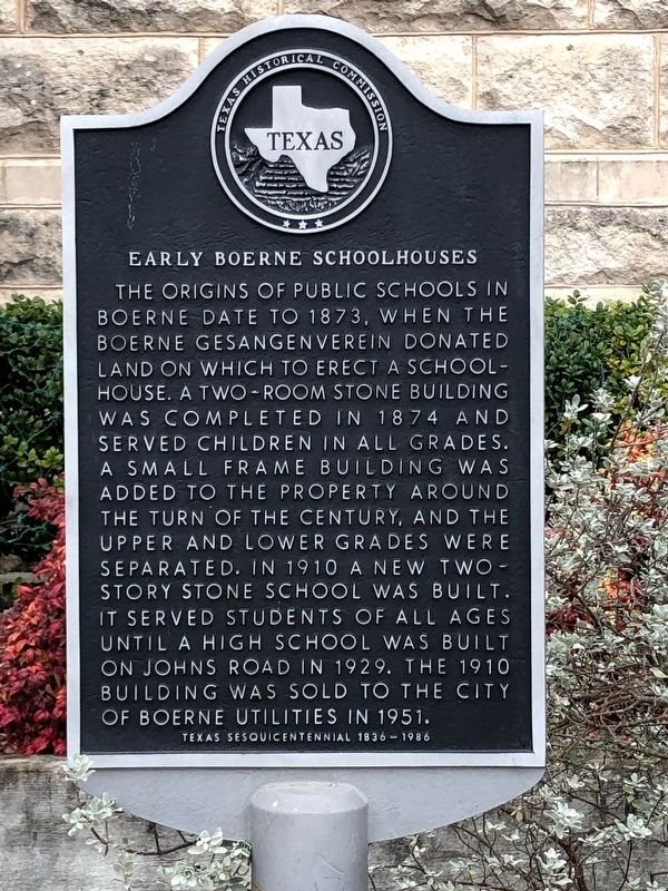 Early Boerne Schoolhouses Marker image. Click for full size.
