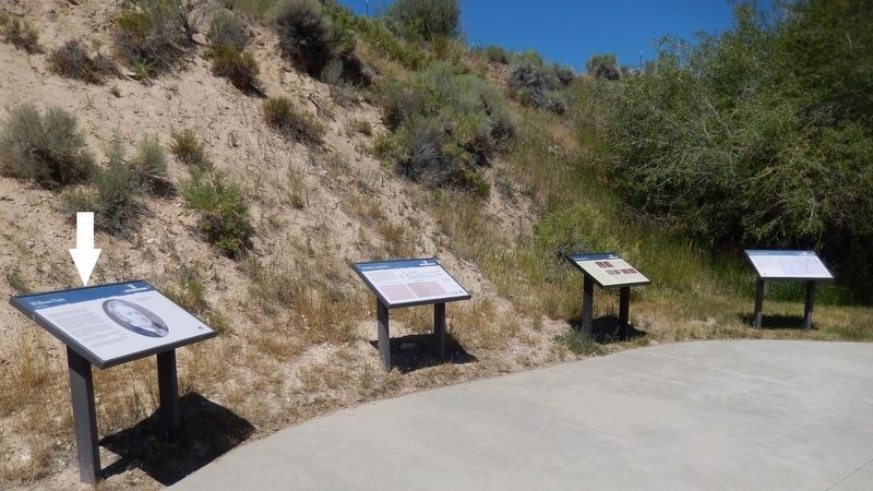 William Clark Marker (<i>wide view showing related markers at trailhead</i>) image. Click for full size.