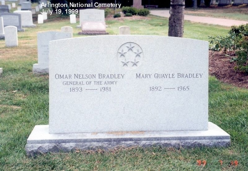 General of the Army Omar N. Bradley Grave Marker image, Touch for more information