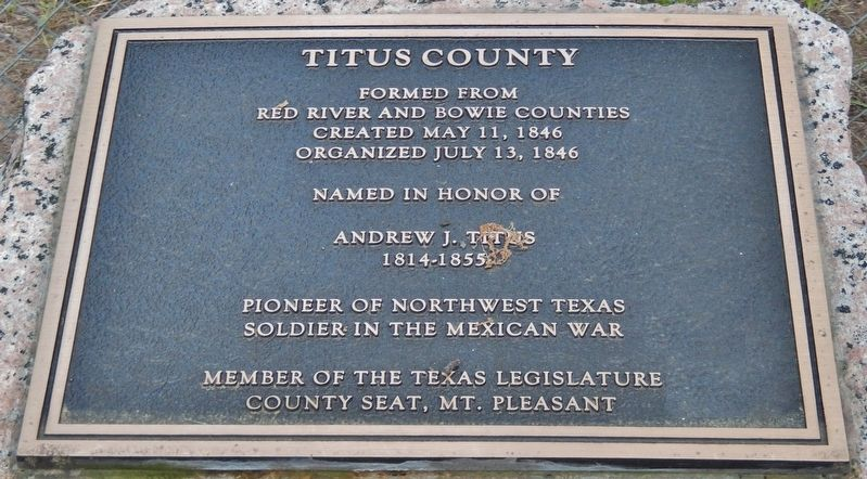 Titus County Marker image. Click for full size.