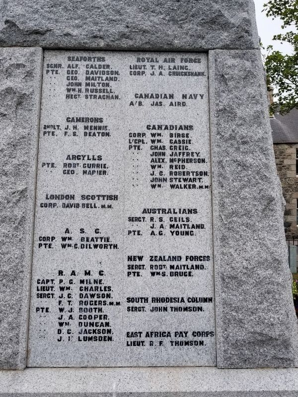 Inverurie War Memorial image, Touch for more information