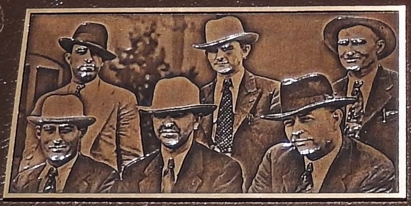 Marker detail: Bas-relief sculpture of Law Enforcement Officials image, Touch for more information