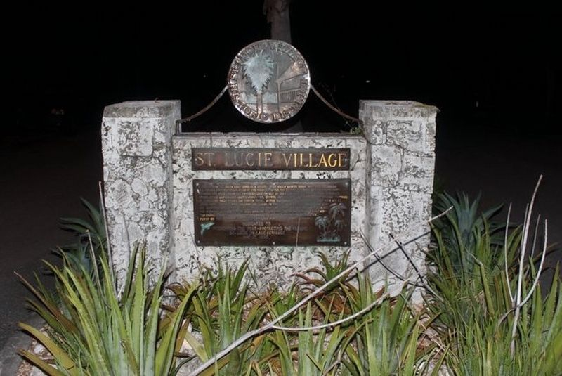 St. Lucie Village Marker image. Click for full size.