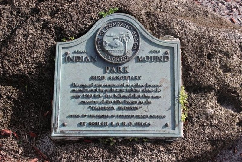 Indian Mound Park Marker image. Click for full size.
