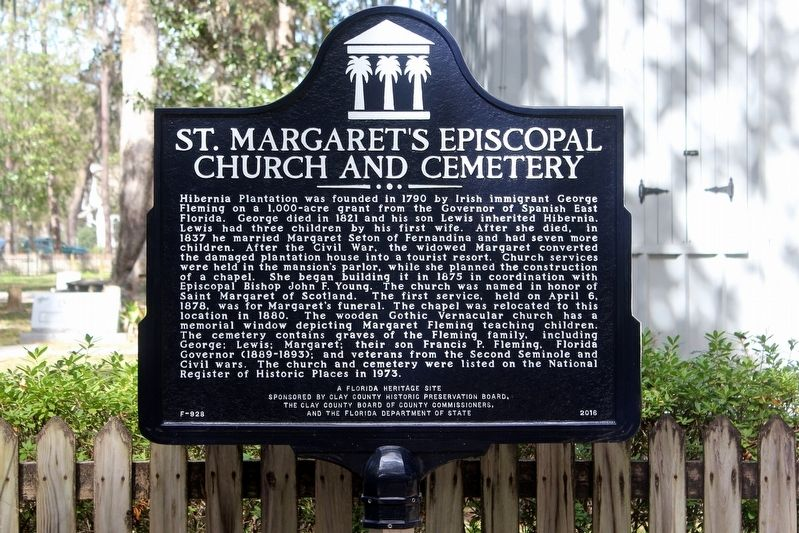 St. Margaret's Episcopal Church and Cemetery Marker image. Click for full size.